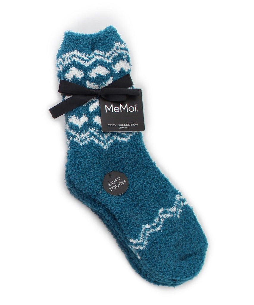 Snowflake/Solid Cozy Collection 2 Pair Pack - MeMoi - 4