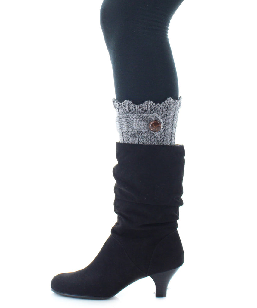 Boot Toppers | Knit Socks | Twist Ribbed Pattern - MeMoi - 4