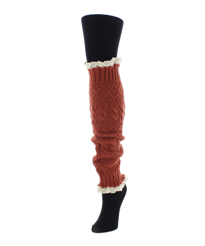 Braided Lace Leg Warmer One Size Fits All - MeMoi - 2