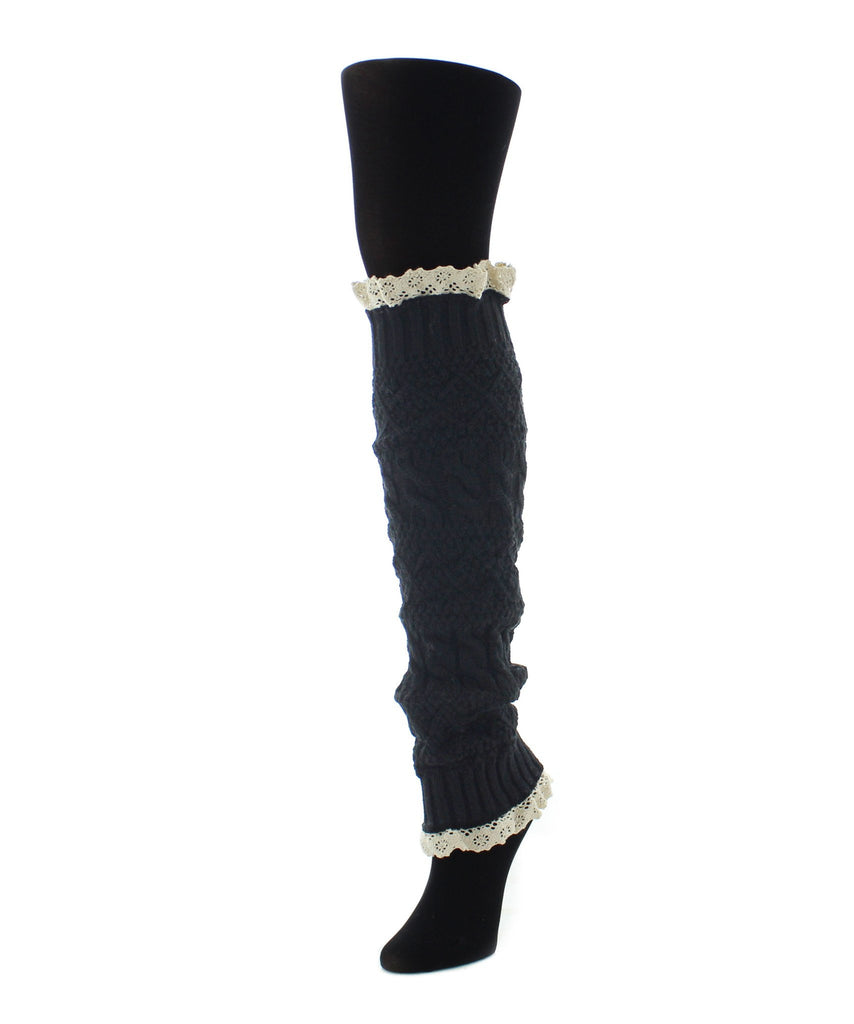 Braided Lace Leg Warmer One Size Fits All - MeMoi - 3