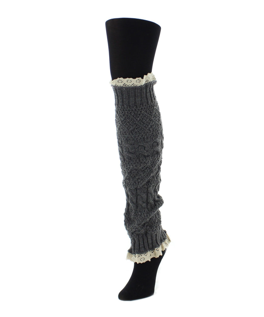 Braided Lace Leg Warmer One Size Fits All - MeMoi - 4