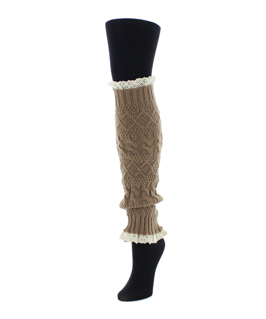 Braided Lace Leg Warmer One Size Fits All - MeMoi - 1