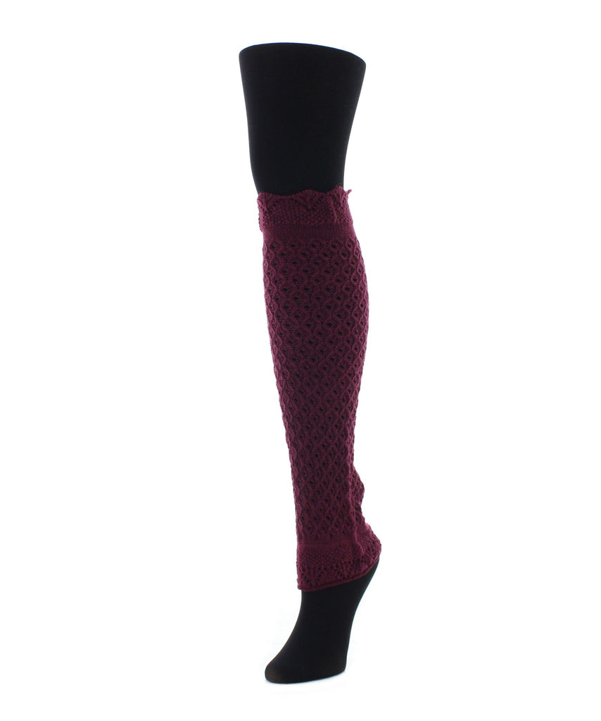 Interwoven Scalloped Classic Leg Warmer - MeMoi - 3