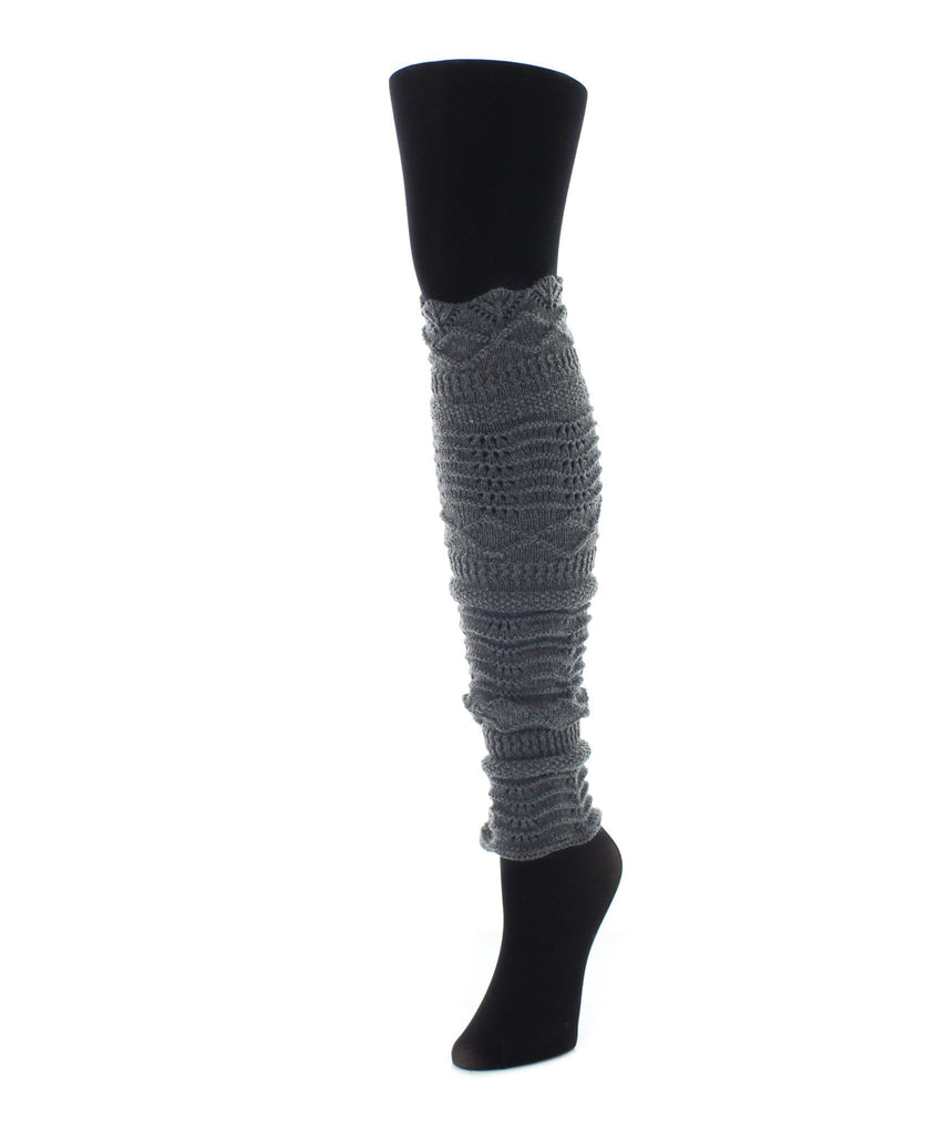 Scalloped Diamond Leg Warmer - MeMoi - 3