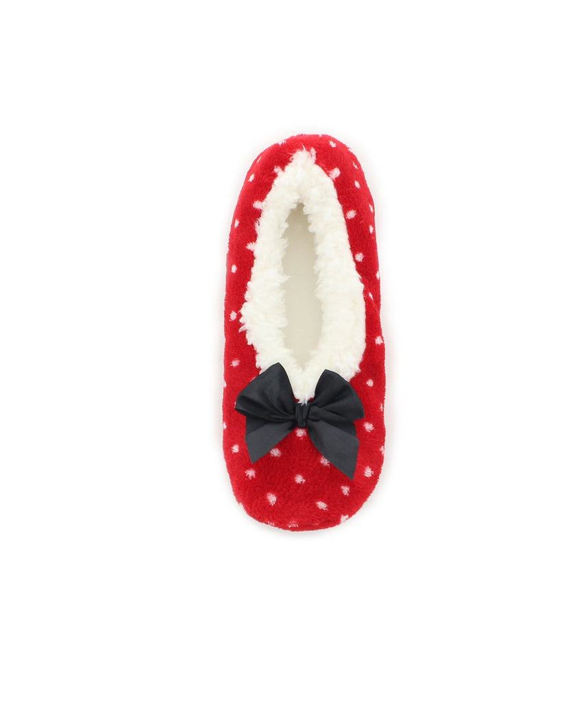 Polka Dot Sherpa Lined Slippers - MeMoi - 3