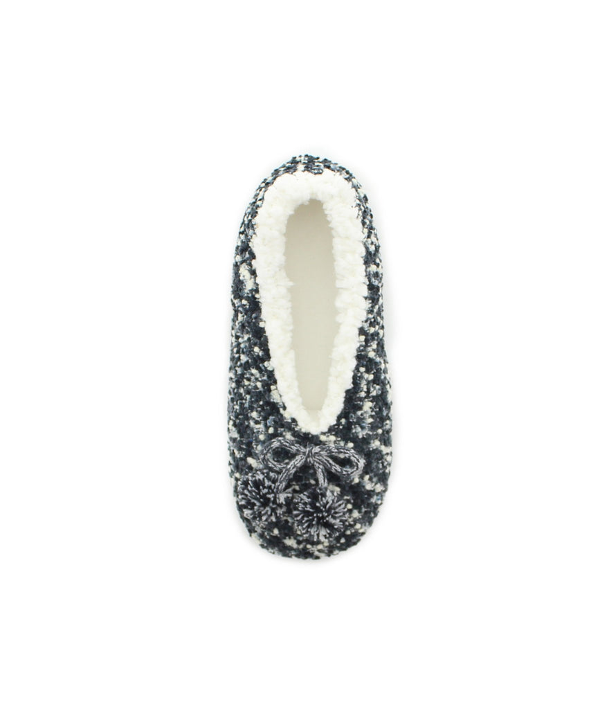 Fuzzy Knit Sherpa Lined Slippers - MeMoi - 1