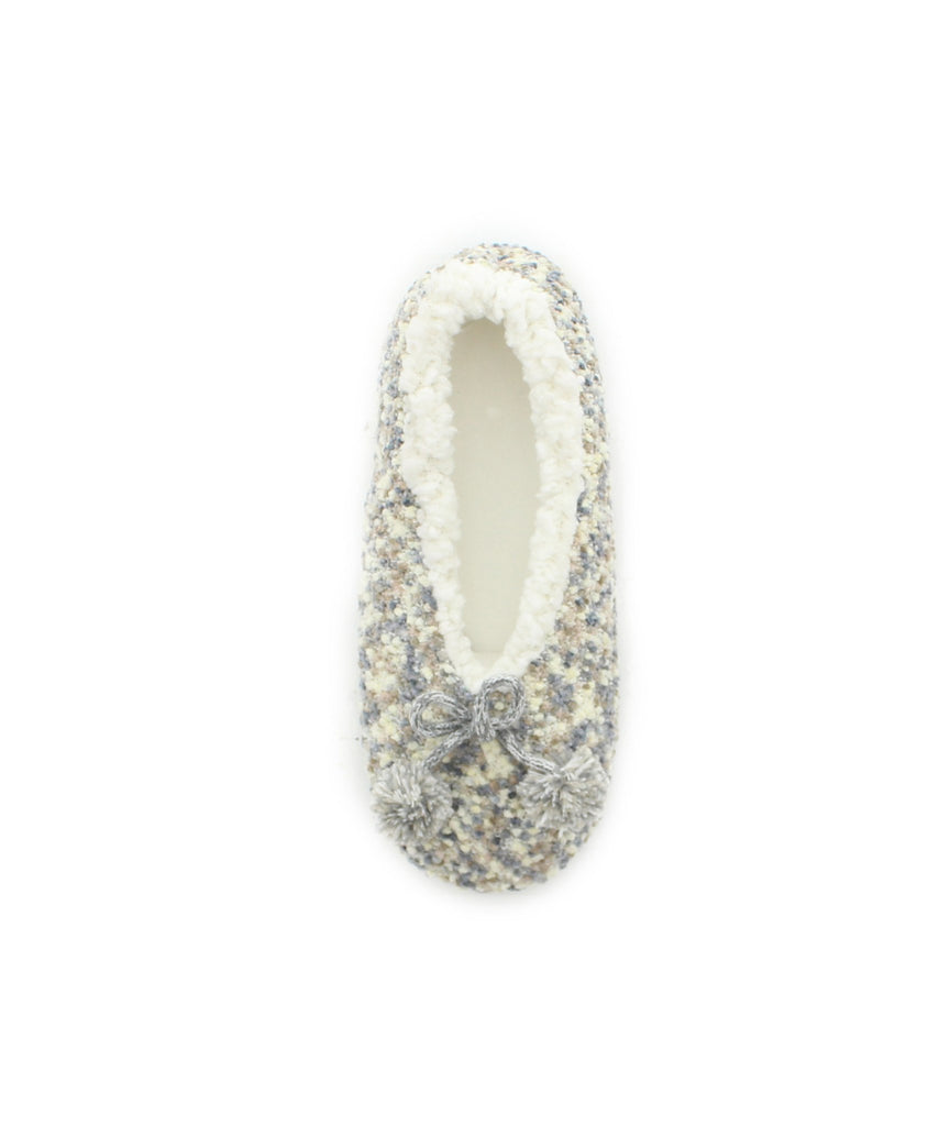 Fuzzy Knit Sherpa Lined Slippers - MeMoi - 2
