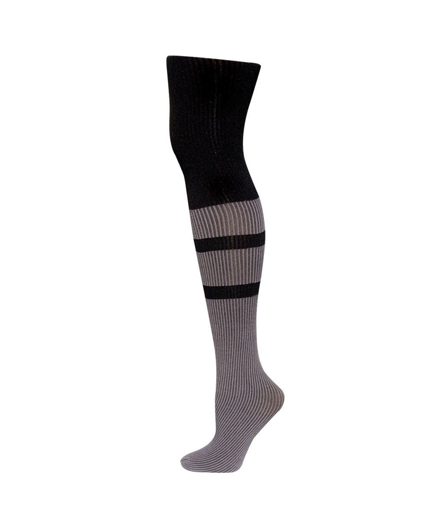 Double Liner Rib Fashion Tights - MeMoi - 2