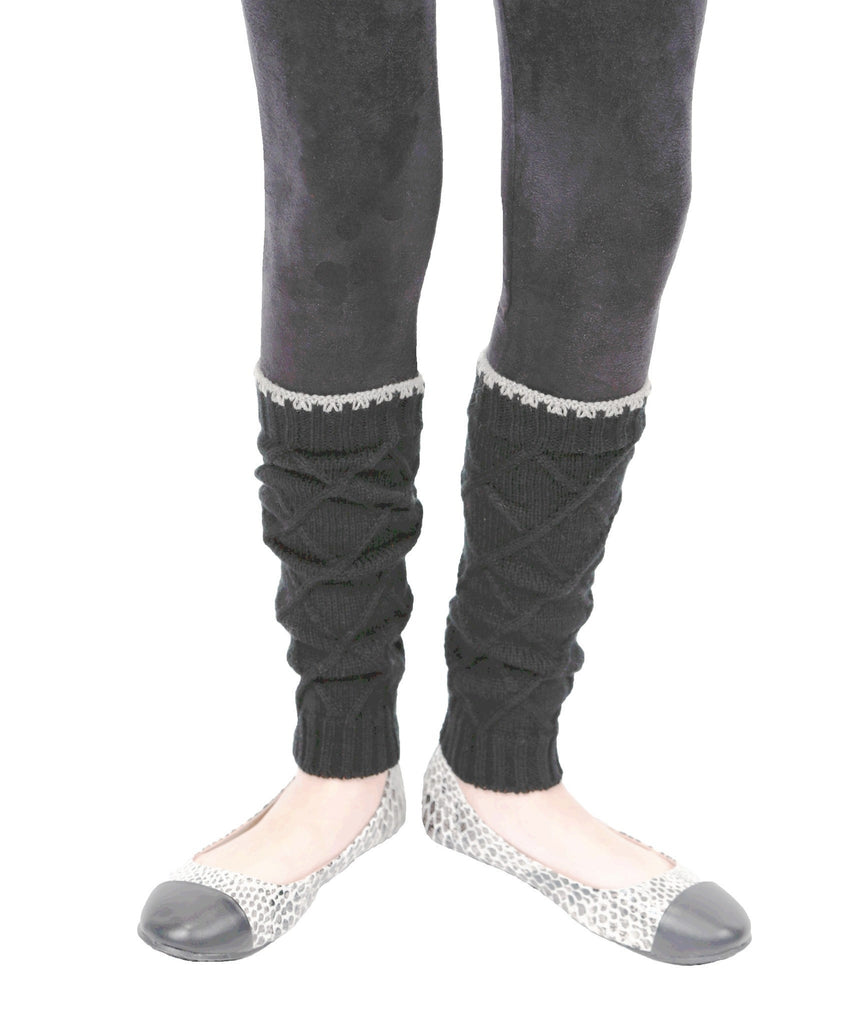 Girls Criss-Cross Knit Legwarmer - MeMoi - 2