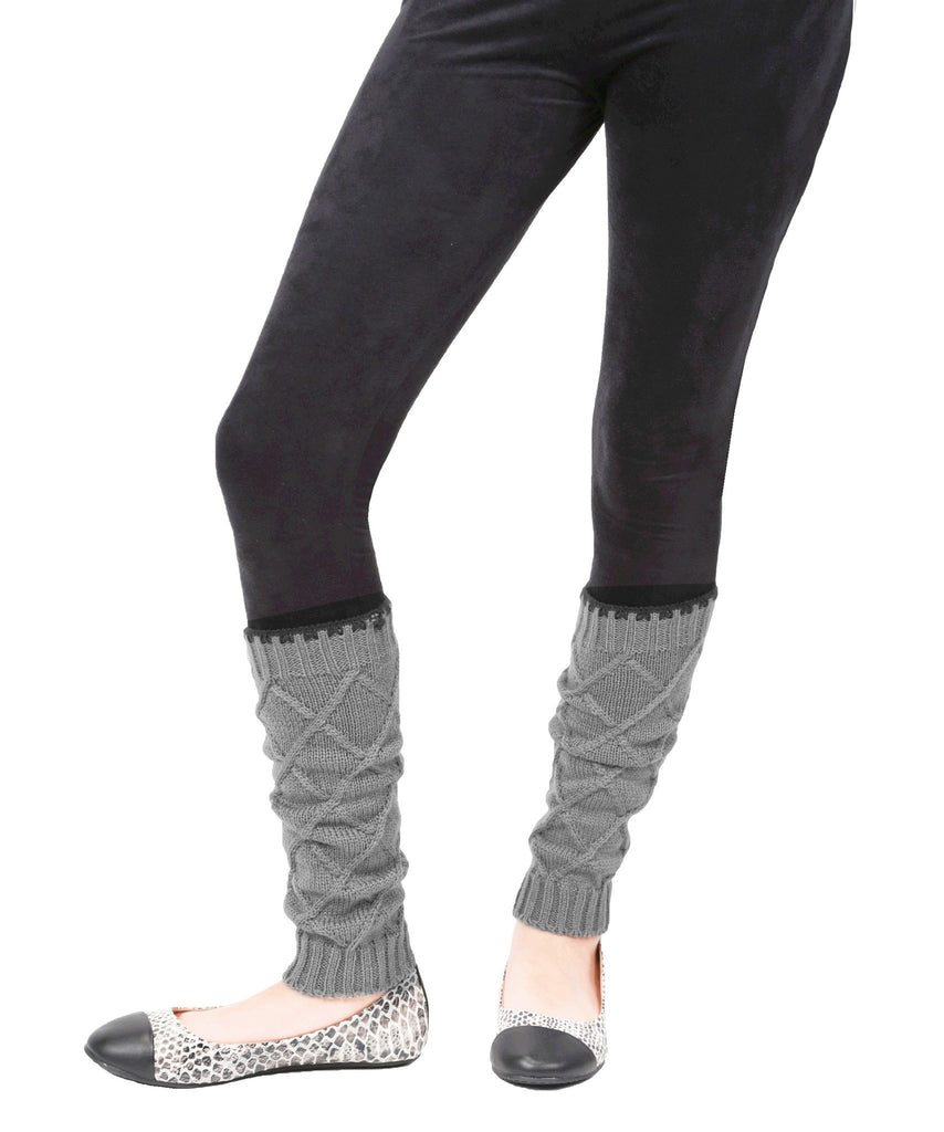 Girls Criss-Cross Knit Legwarmer - MeMoi - 3