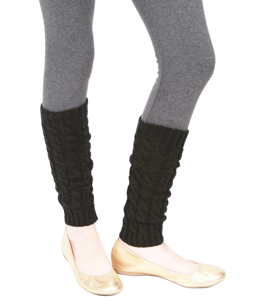 Girls Chaotic Cable Knit Legwarmer - MeMoi - 2