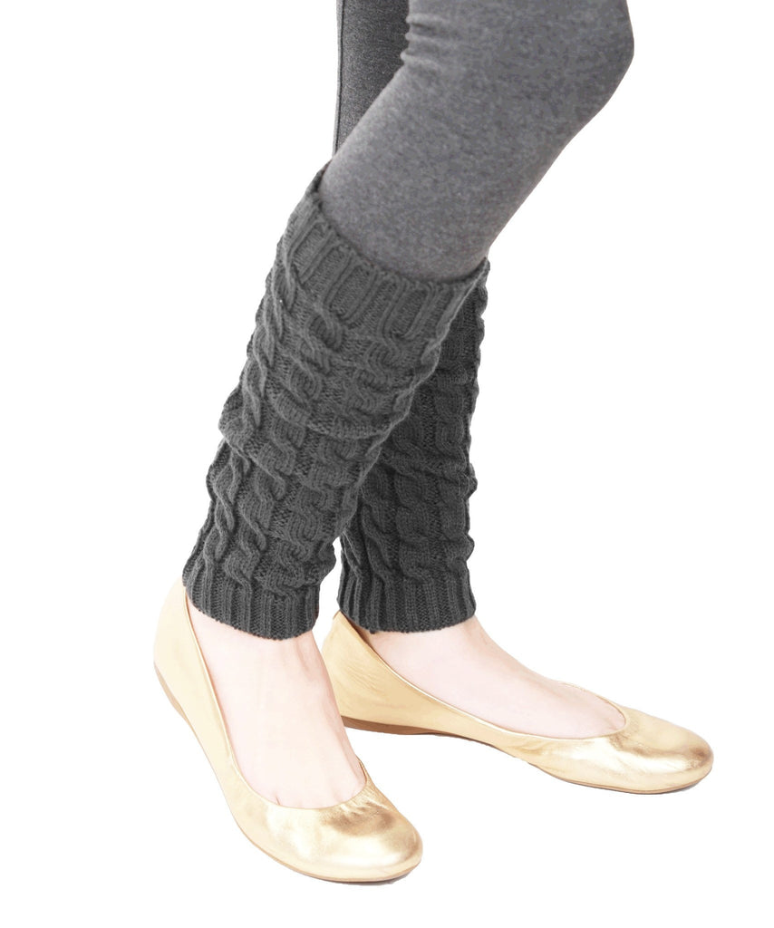 Girls Chaotic Cable Knit Legwarmer - MeMoi - 3