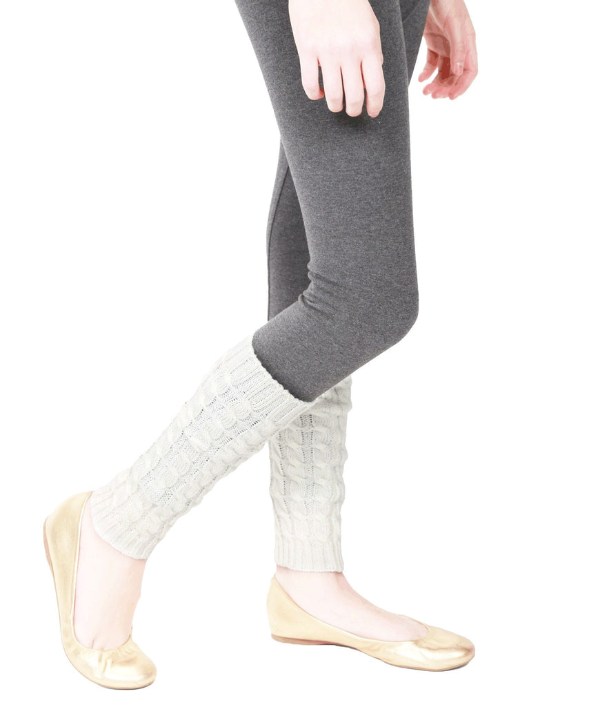 Girls Chaotic Cable Knit Legwarmer - MeMoi - 4