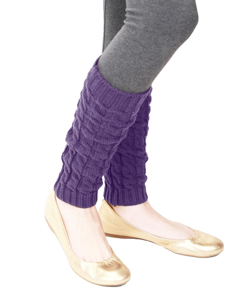 Girls Chaotic Cable Knit Legwarmer - MeMoi - 1