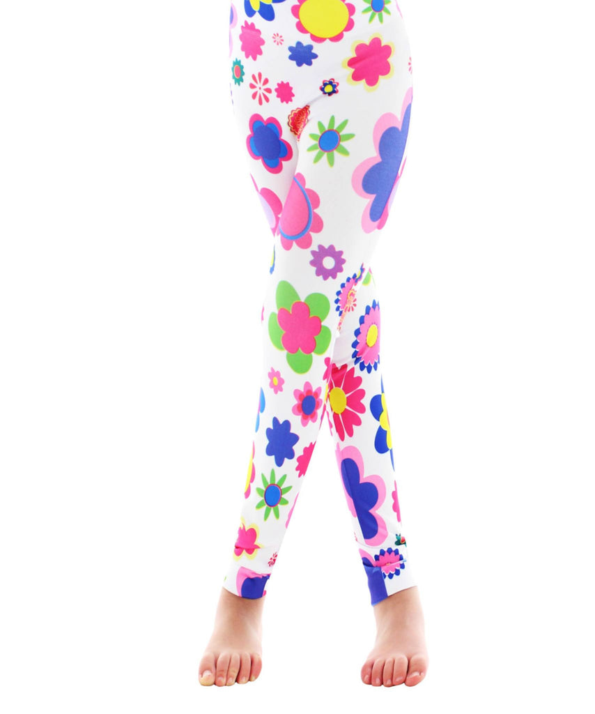 Girls Flower Power Leggings - MeMoi - 1