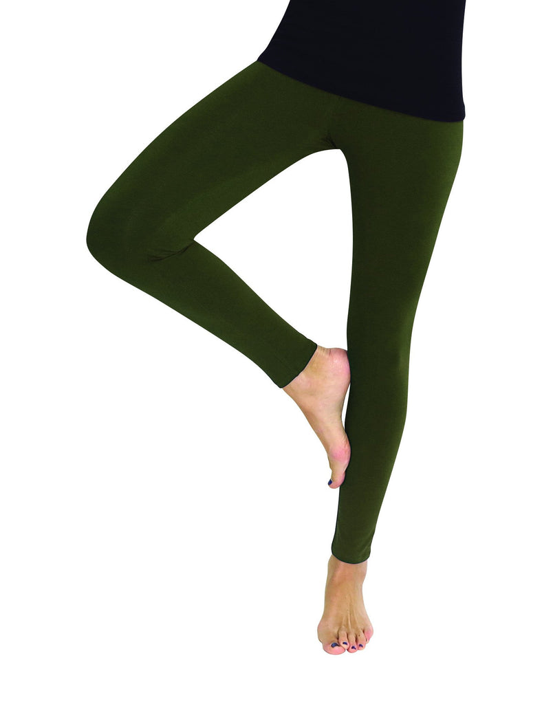 Premium Fleece Footless Tights - Assorted Colors - MeMoi - 4