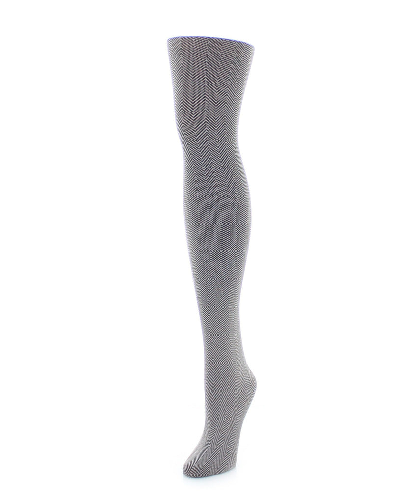 Girl's Herringbone Tights - MeMoi - 1