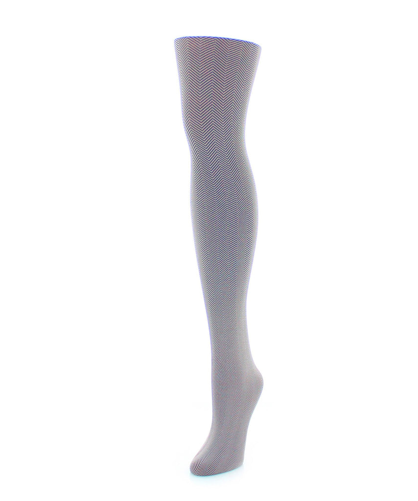 Girl's Herringbone Tights - MeMoi - 3