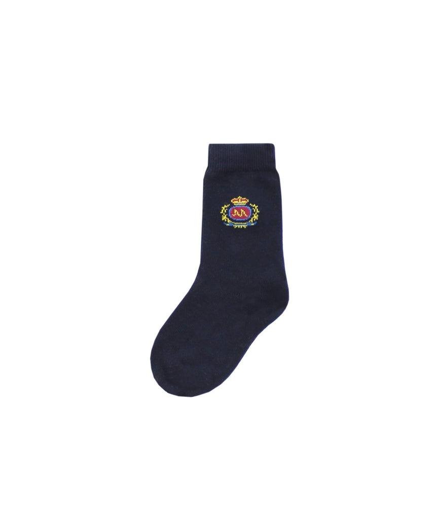 Boy's Crest Dress Socks - MeMoi - 1