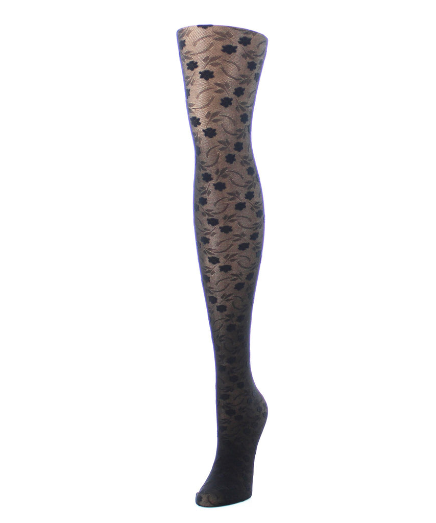 Girl's Blossom Sheer Tights - MeMoi - 1
