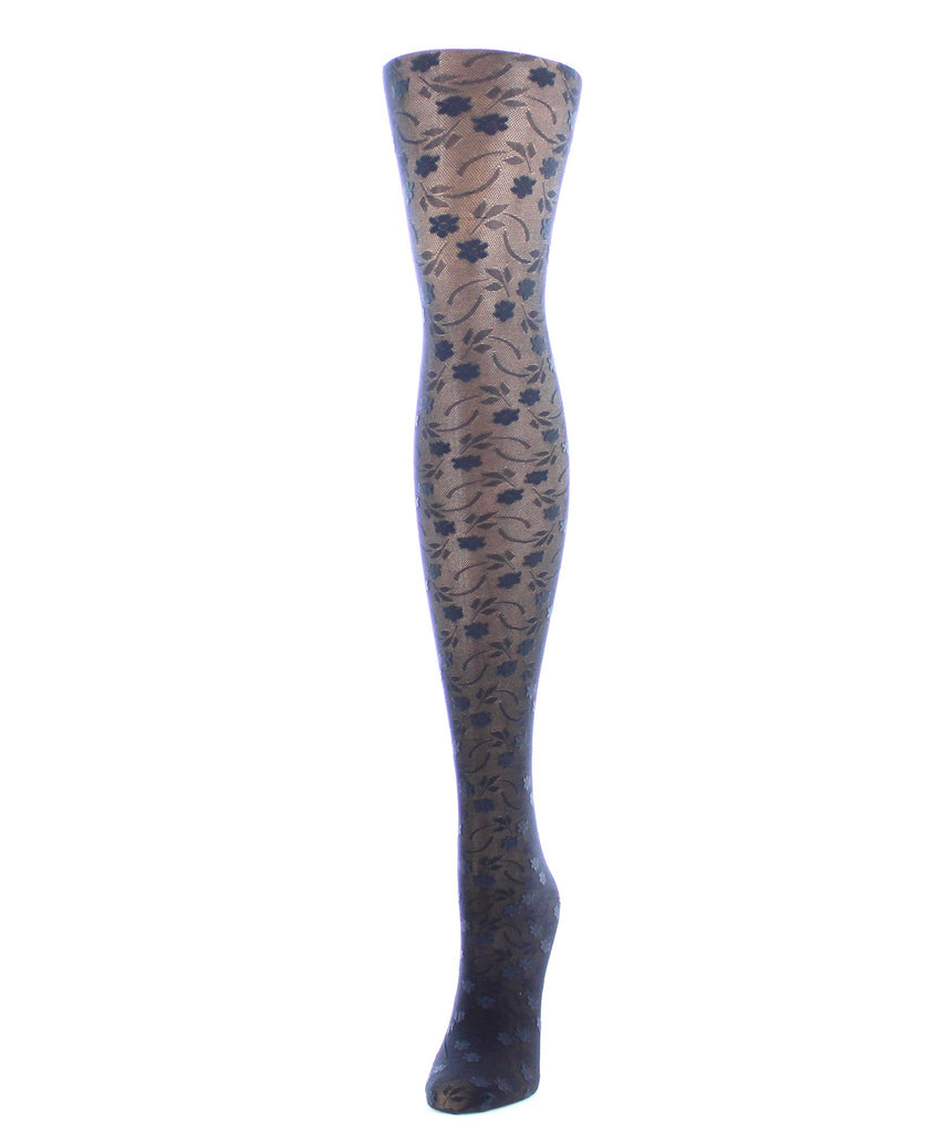 Girl's Blossom Sheer Tights - MeMoi - 5