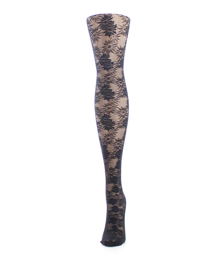Girls Sheer Flower Craze Tights - MeMoi - 2