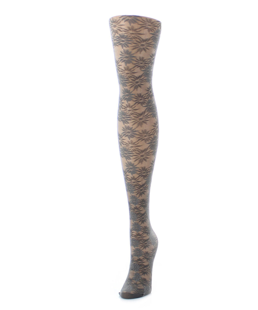 Girls Sheer Flower Craze Tights - MeMoi - 1