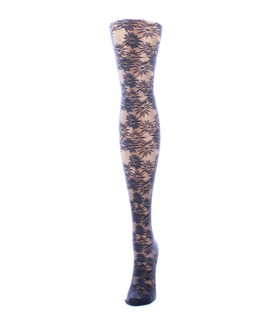 Girls Sheer Flower Craze Tights - MeMoi - 3