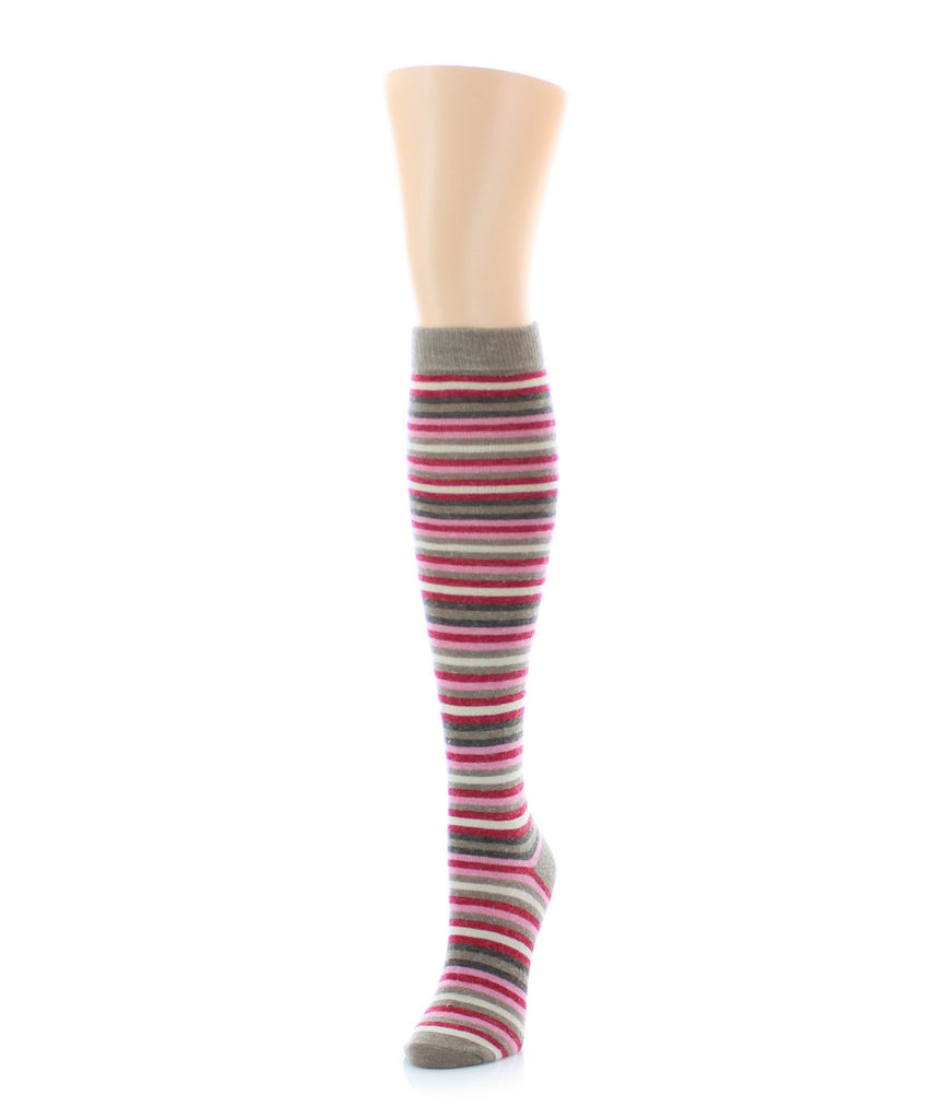 Stripe Out Wool Knee High - MeMoi - 1