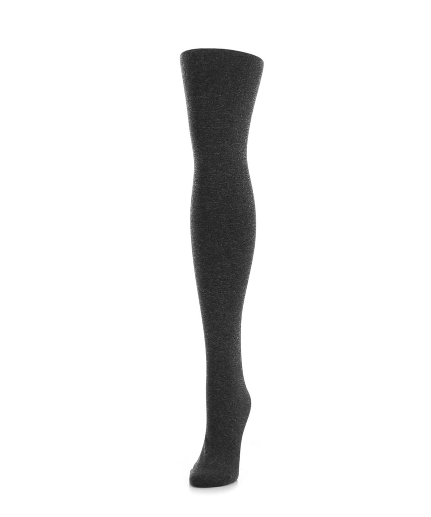 Heather Plush Lined Fleece Tights - MeMoi