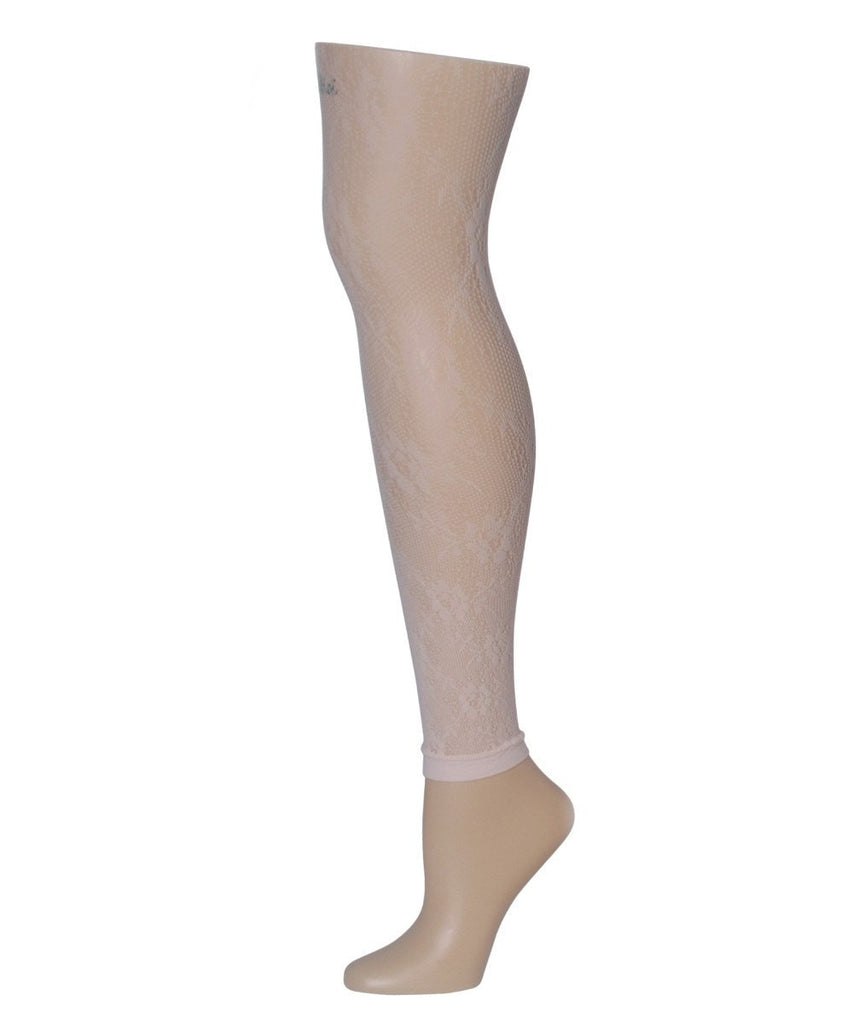Romantic Lace Footless Tights - MeMoi - 2