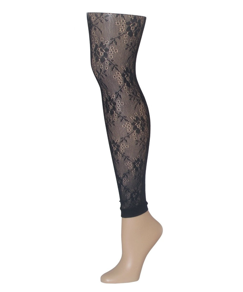 Romantic Lace Footless Tights - MeMoi - 1