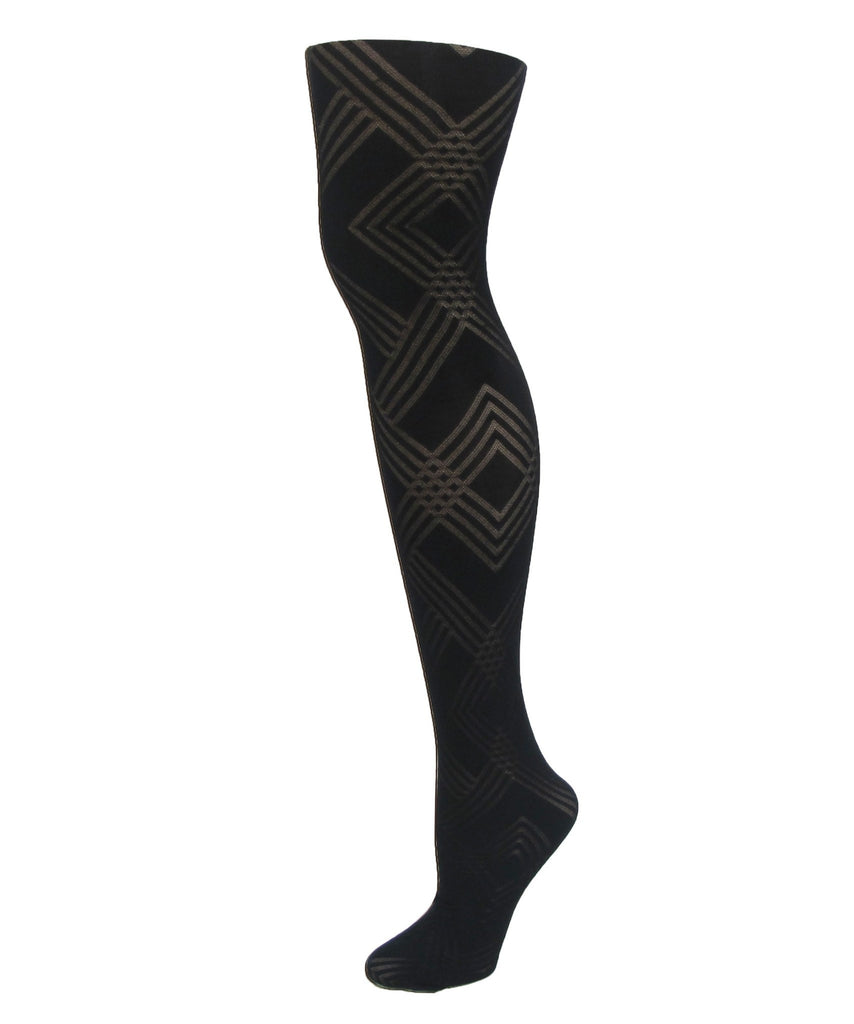 Geometric Pattern Tights - MeMoi - 1