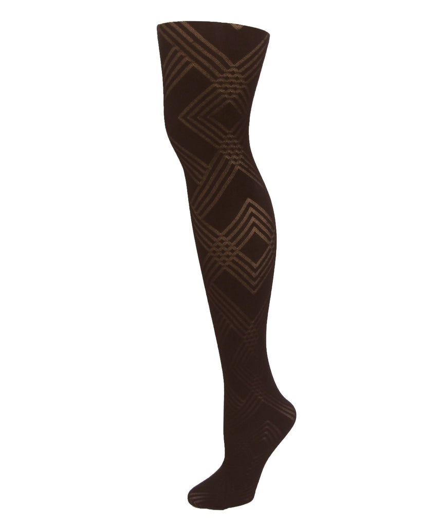 Geometric Pattern Tights - MeMoi - 2