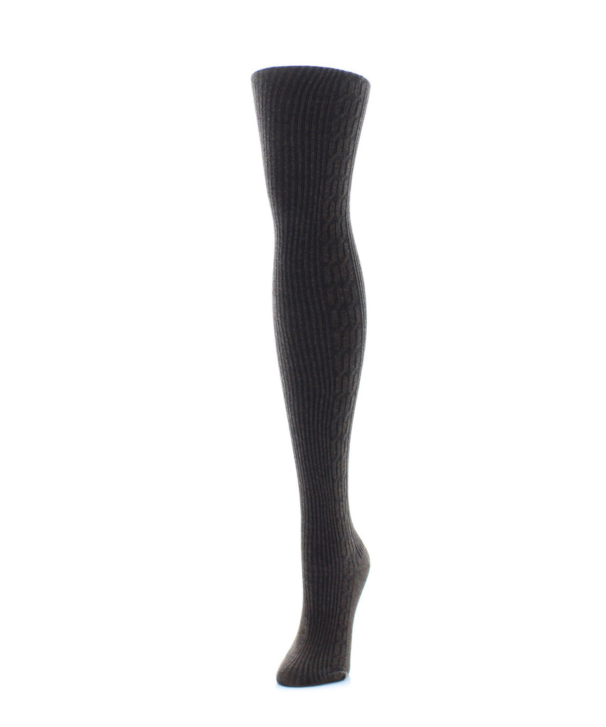 Side Cable Winter Sweater Tights - MeMoi - 3