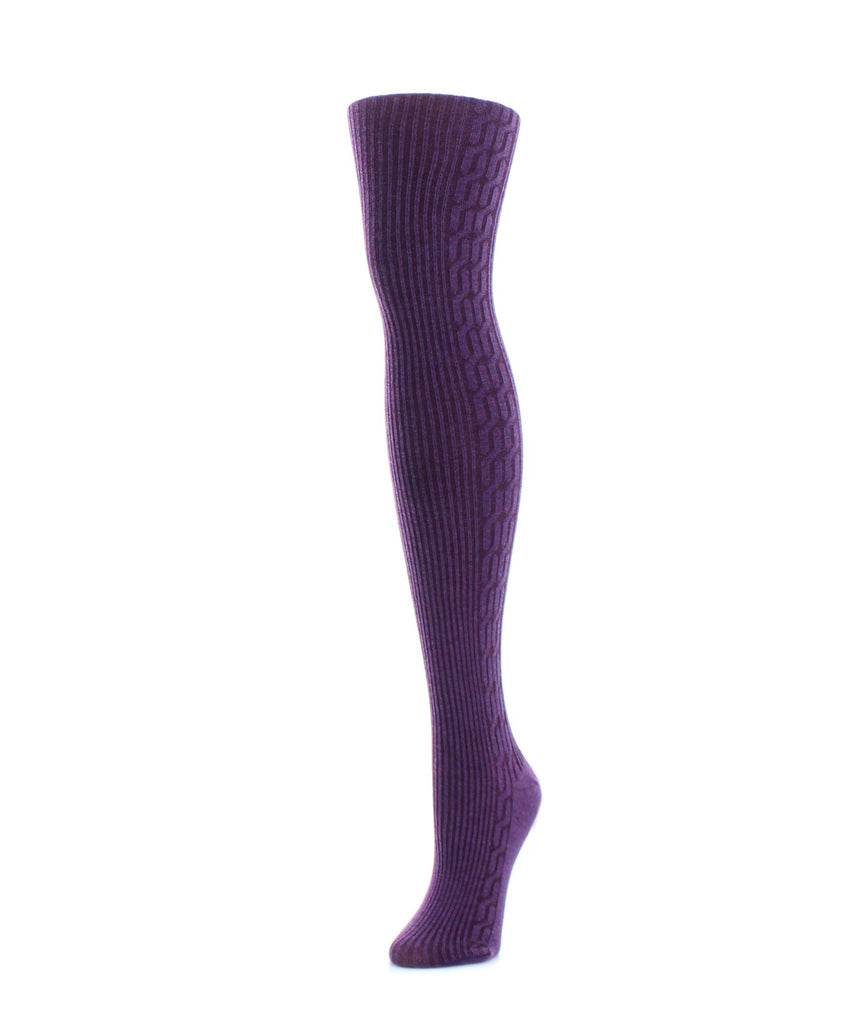 Side Cable Winter Sweater Tights - MeMoi - 5