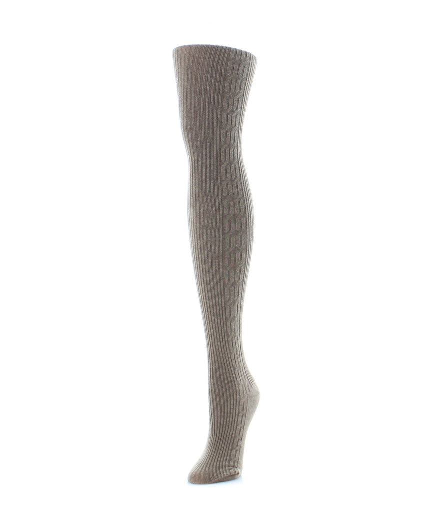Side Cable Winter Sweater Tights - MeMoi - 1
