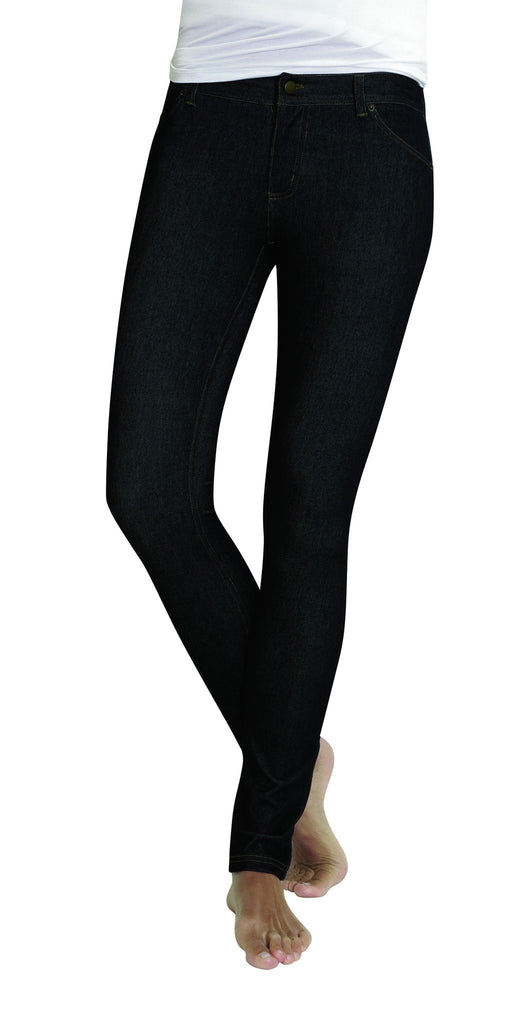 Zipper Denim Real Pockets Leggings - MeMoi - 1