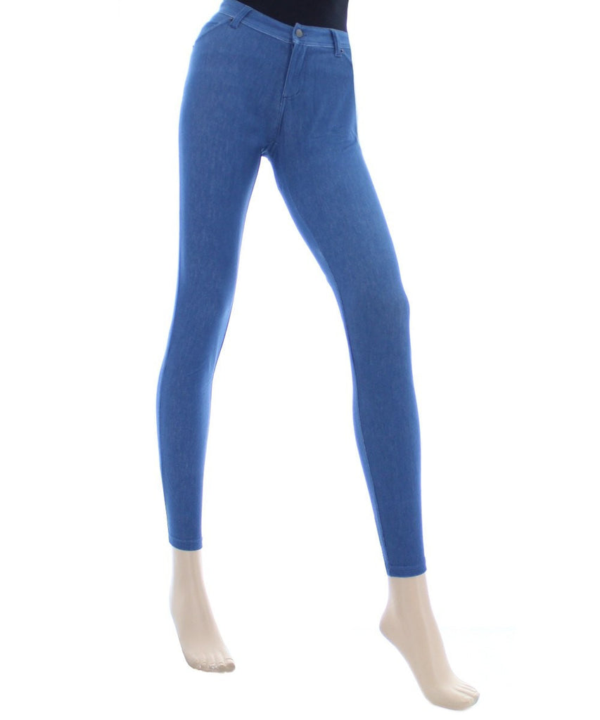Zipper Denim Real Pockets Leggings - MeMoi - 2