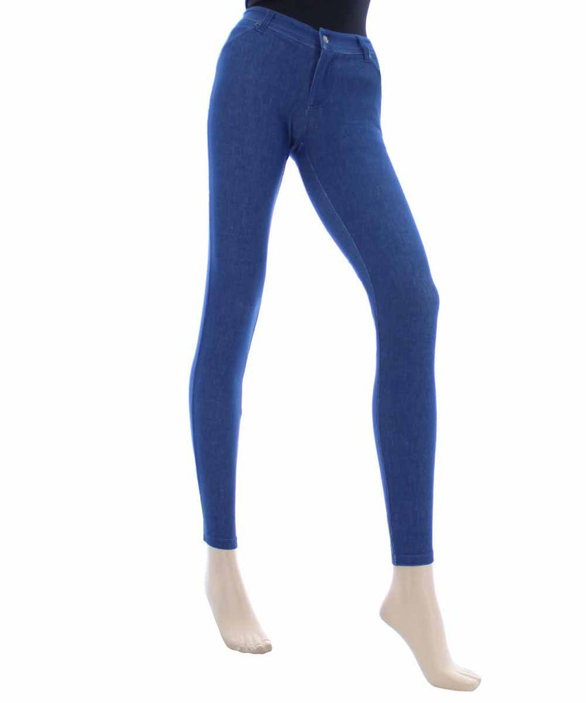 Zipper Denim Real Pockets Leggings - MeMoi - 3