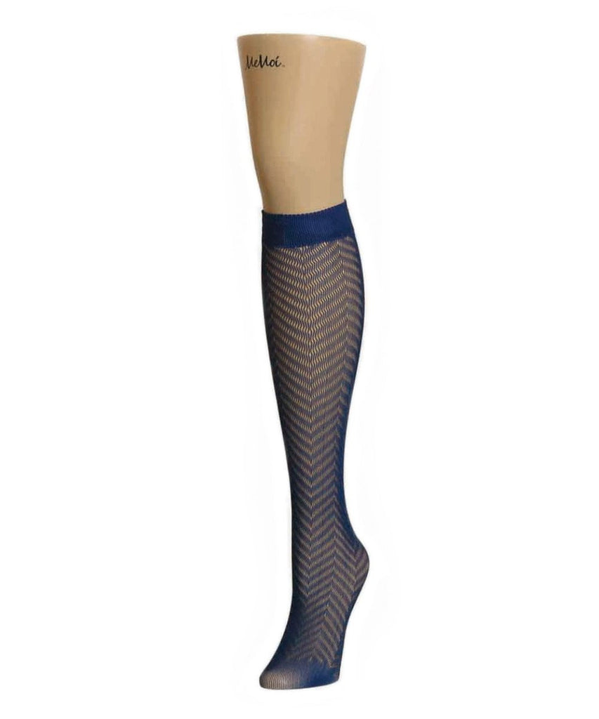 Chevron Net Knee High - MeMoi - 2