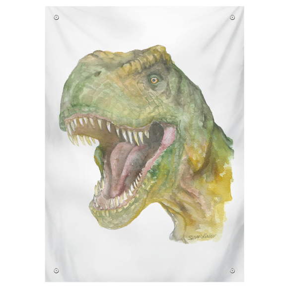 T. rex Watercolor Tapestry