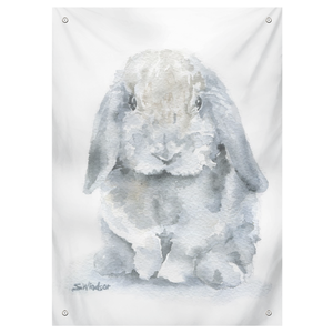 Gray Mini Lop Rabbit Tapestry