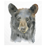 Black Bear Watercolor Tapestry