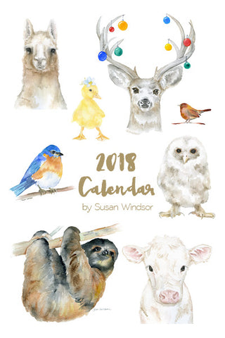 2018 Animals Desk Calendar