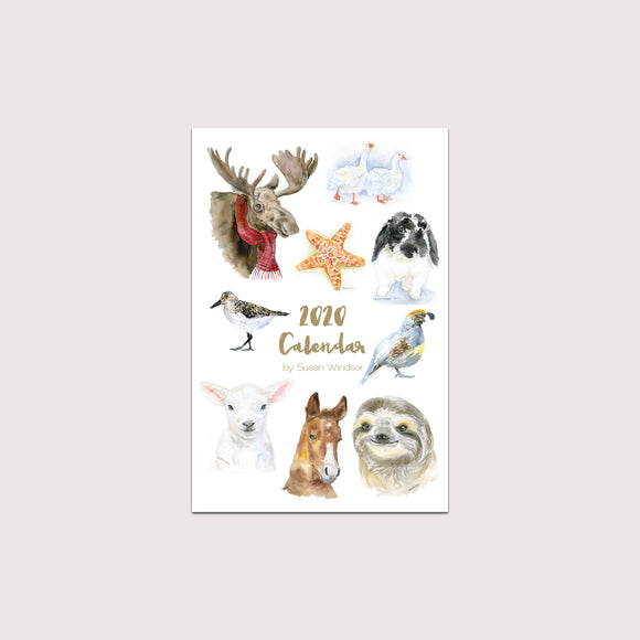 2020 Animals Desk Calendar