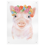 Pig Floral 1 Watercolor Tapestry
