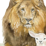 Lion and the Lamb Watercolor