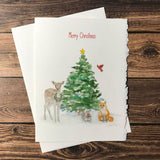 Woodland Animals Christmas Cards Set
