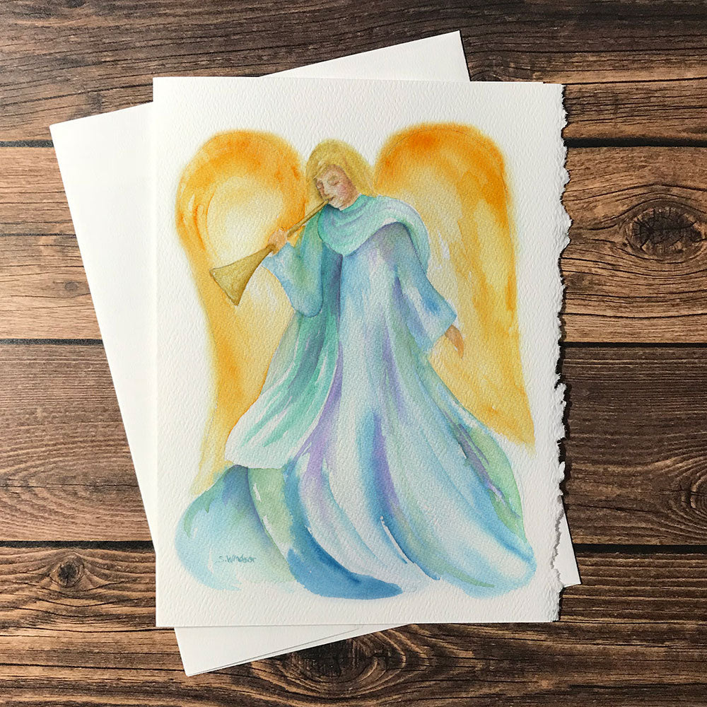 Angel Watercolor Christmas Card Set